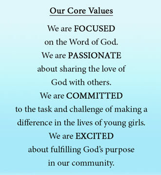 Focused ministries Core Values